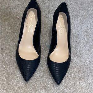 Jessica Simpson Croc Heels